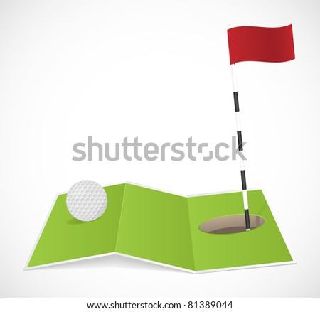 Abstract golf icon. Vector illustration.