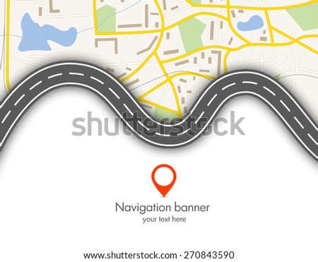 abstract  gps navigation vector