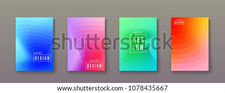 Abstract gradient background with geometric color shapes. Minimal cool covers design. Vector illustration #1078435667