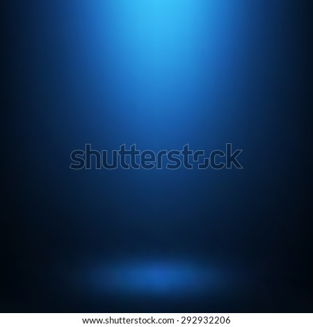 Abstract gradient blue, used as background for display your products - Vector
