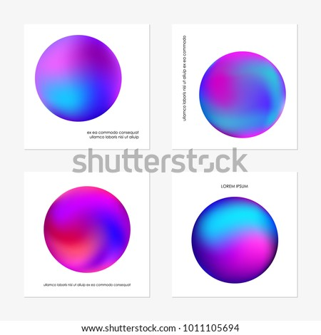 Abstract gradient in the sphere of violet, pink, blue. Vector template.