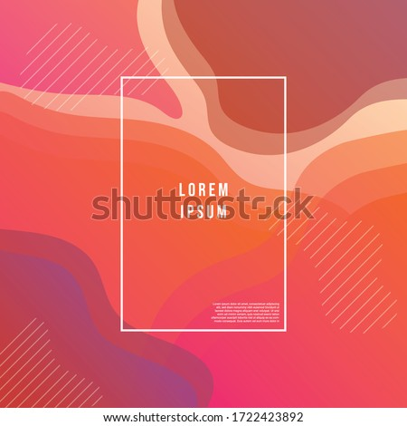 Abstract gradient wavy geometric background modern with colorful style gradient color. landing page, cover page, Eps10 vector