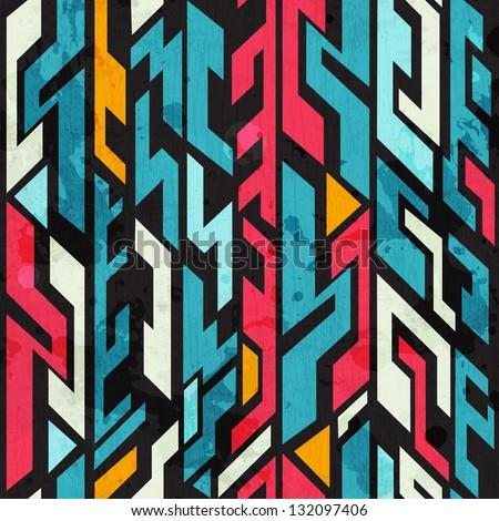 abstract graffiti seamless