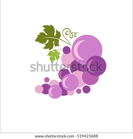 abstract grapes symbol grapes