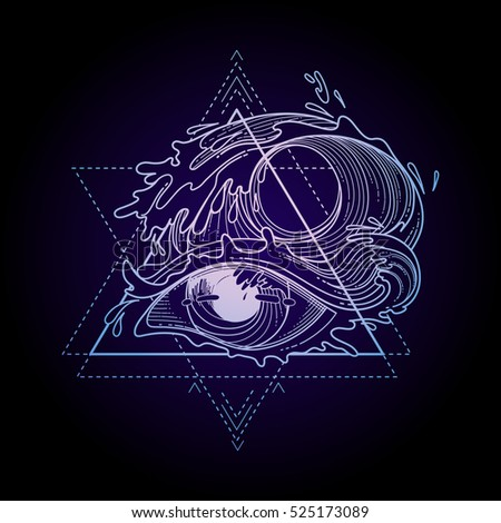 abstract graphic eye decorated