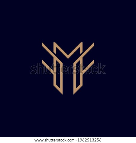 Abstract graphic illustration letters F, M, F Stock fotó ©