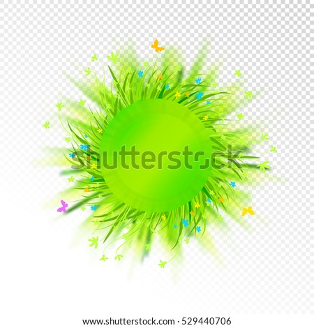 abstract grass circle label