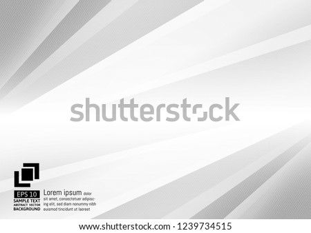 Abstract gray and white color geometric modern design vector background with space for design, text input.