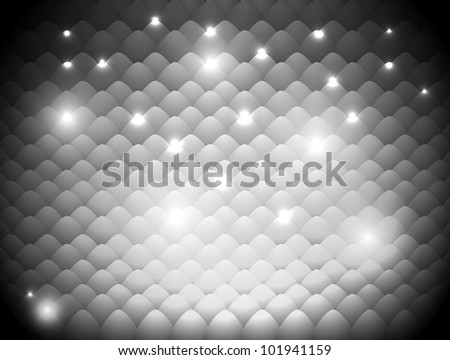 abstract gray background with a light-scales effect - stock vector