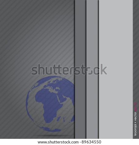 Abstract gray background with world illustrator