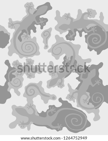 abstract gray camouflage design
