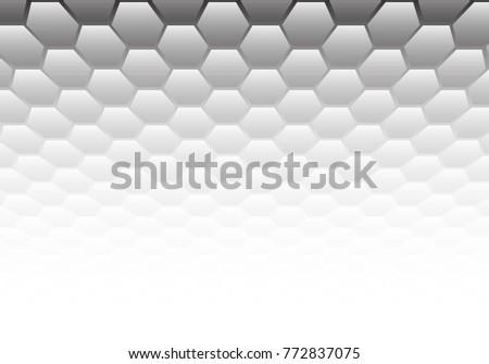 abstract gray hexagon mesh