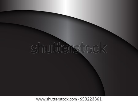 abstract gray metal curve