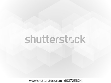 abstract gray transparent cube