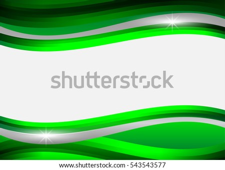 abstract green and gray waves