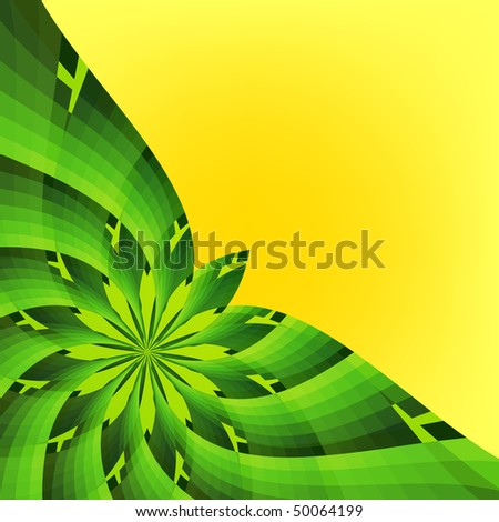 yellow green flower logo - photo #20