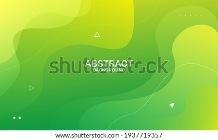 Abstract green and yellow color background. Dynamic shapes composition. Eps10 vector