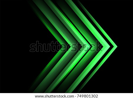 stock-vector-abstract-green-arrow-light-speed-technology-on-black-design-modern-futuristic-background-vector