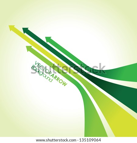 abstract green arrow strips