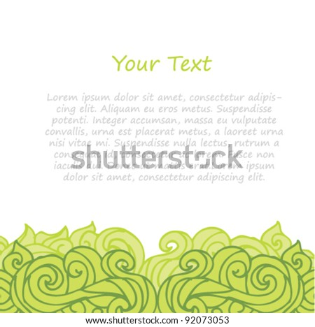 abstract green background hand draw illustration