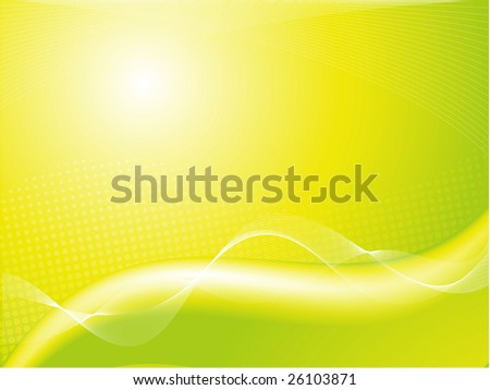 abstract green background with blended waves