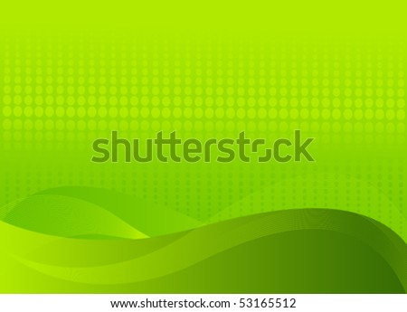 Abstract green background with place for a text - stock vector