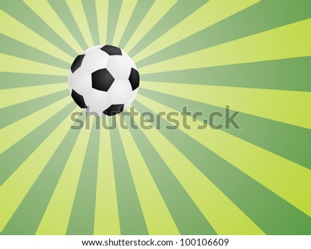 abstract green background with soccer ball vector illustration