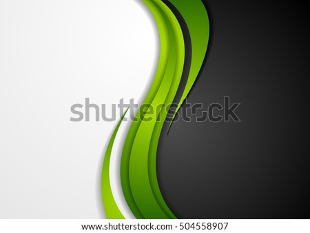 abstract green black grey wavy