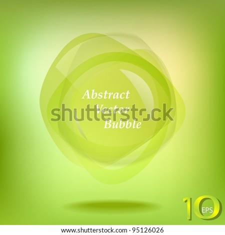 Abstract green bubble