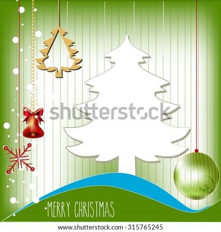 abstract green christmas