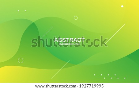 Abstract green color background. Dynamic shapes composition. Eps10 vector