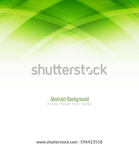 Abstract green color modern background design