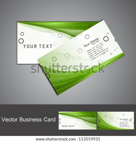 abstract green colorful business card set vector
