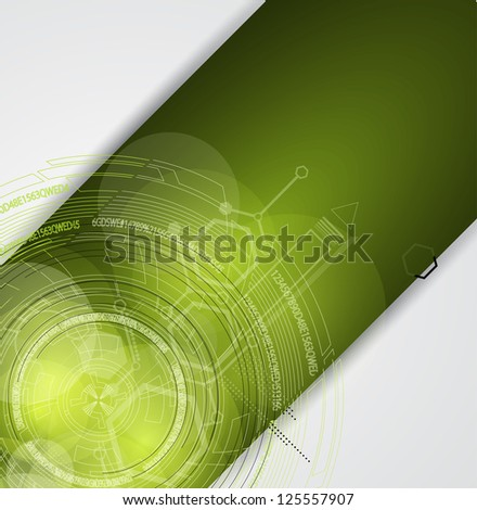 abstract green computer technology business background