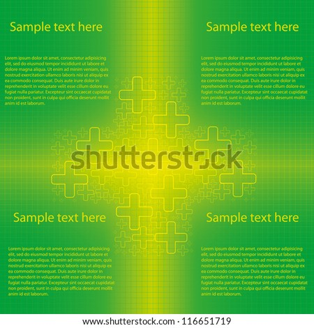 Abstract green cross medical background