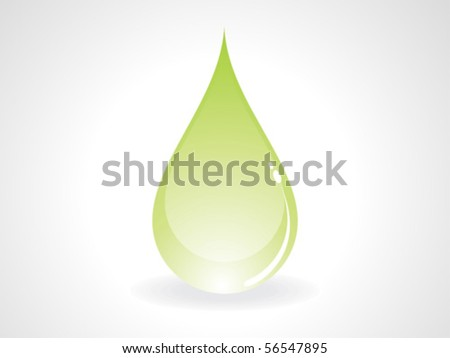 abstract green drop vector illustration