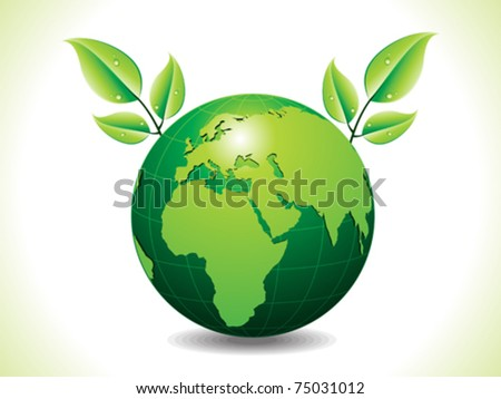 abstract green eco globe with