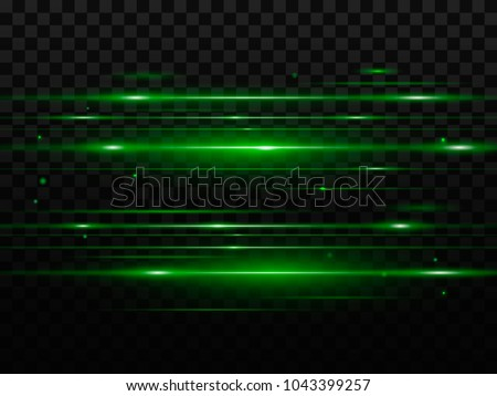 abstract green flash and laser
