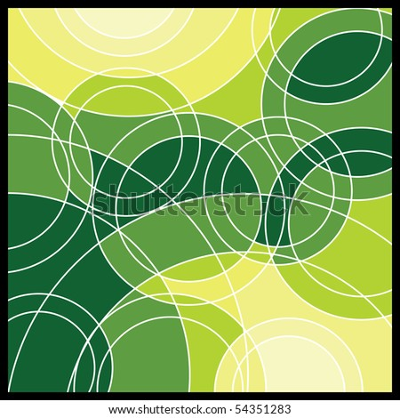 Abstract Green Geometric Mosaic Vector Background