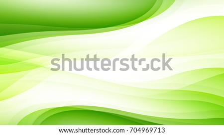 abstract green gradient curve