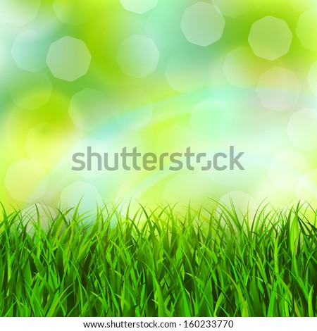 Abstract green grass background vector illustration
