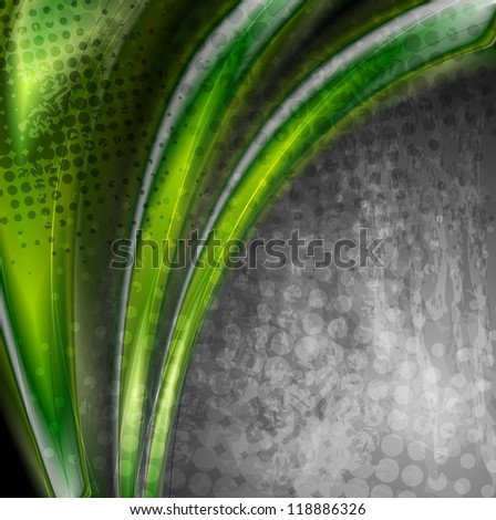 Abstract green grunge background. Vector design eps 10