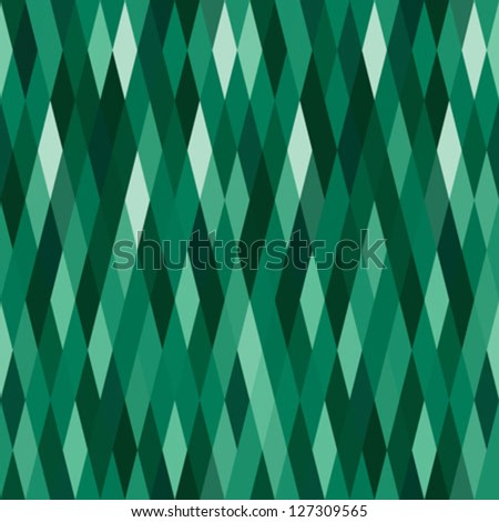 abstract green harlequin argyle vector seamless pattern with lozenge elements, that look like diamonds or emeralds