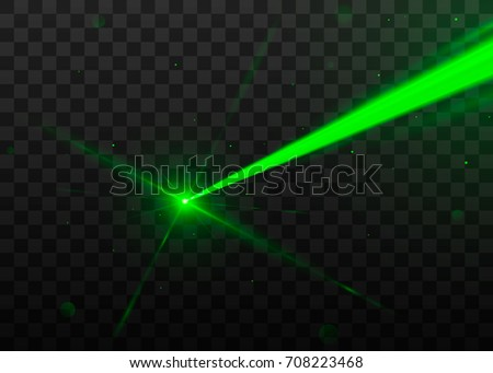 abstract green laser beam