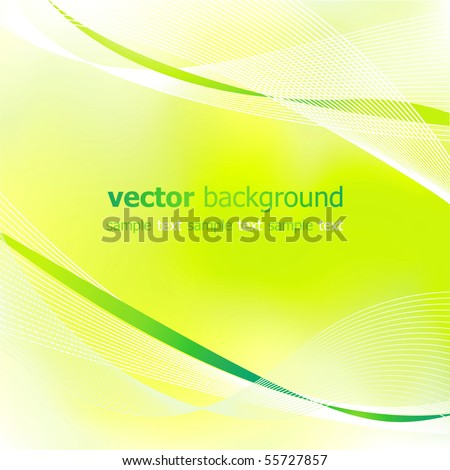 Abstract green light background.Vector.