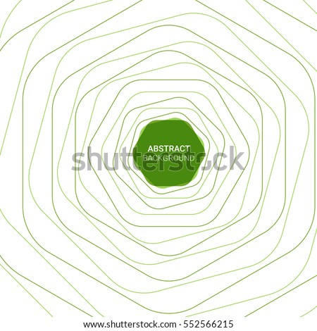 Abstract green line background. Vector illustration eps 10.