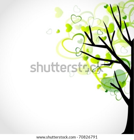 Tree with Heart Graphics