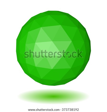 abstract green low polygonal
