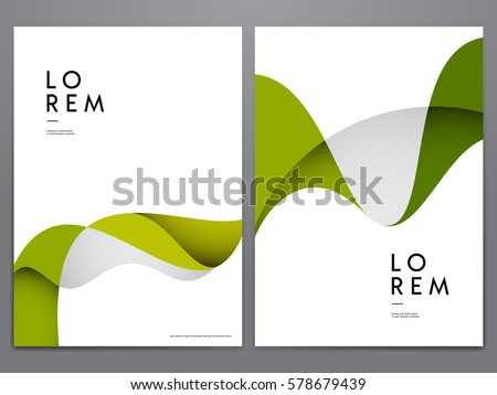abstract green minimal cover or