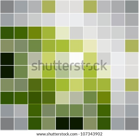 abstract green mosaic vector background